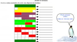 Enumere as representações de acordo com os agrupamentos das barrinhas coloridas.
