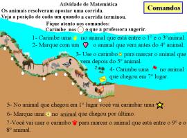 orientaçoes para realizar a atividade corrida de animais