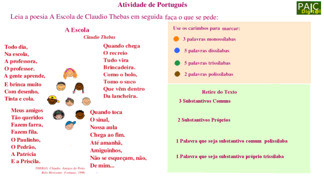 análise linguística,escola,escrita,leitura,Português,TuxPaint