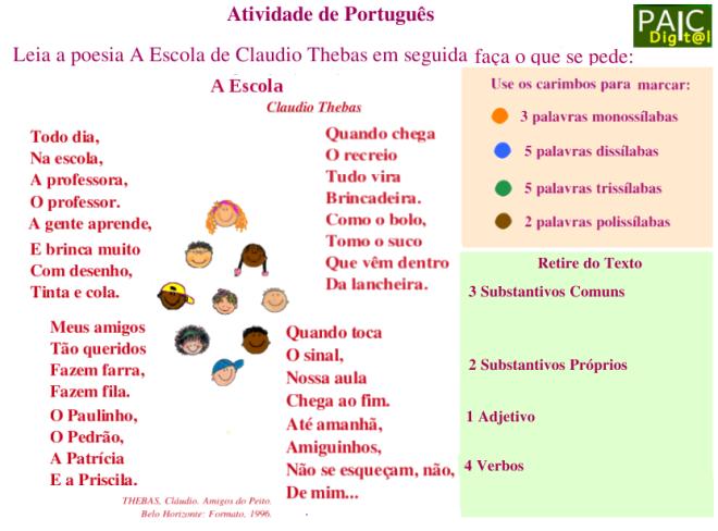 analíse linguística,escola,escrita,leitura,Português,TuxPaint