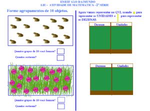 agrupamento, sistema de numeração decimal, TuxPaint