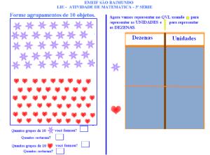 agrupamentos, sistema de numeração decimal, TuxPaint