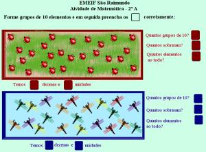 agrupamentos, jogo das trocas,sistema de numeração decimal, TuxPaint