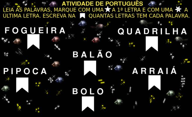 Ativiadade de LEITURA E Escrita.