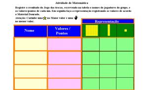 jogo das trocas,sistema de numeração decimal, Material Dourado,TuxPaint