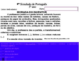 simulado SPAECE, Português, TuxPaint