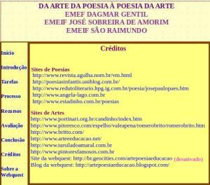 Créditos, Webquest, arte, poesia, TuxPaint
