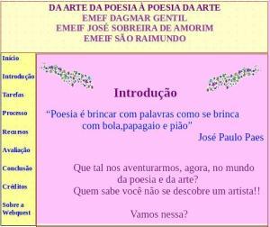 Introdução, Webquest, arte, poesia, TuxPaint