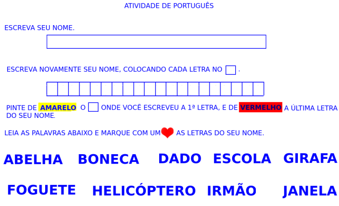 escrita, identidade, leitura,nome,Português,TuxPaint