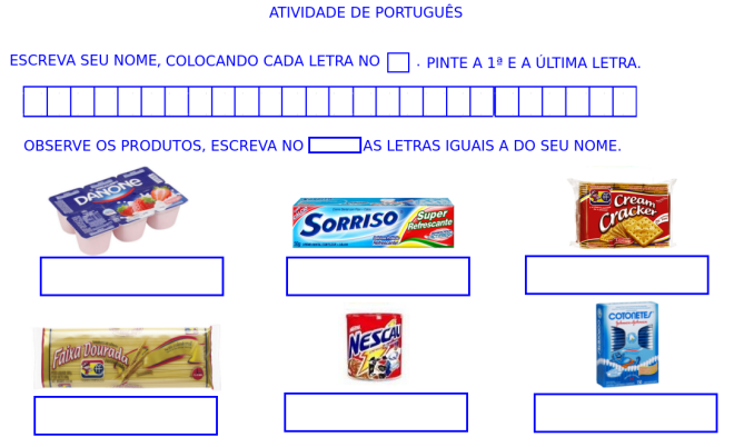 escrita, identidade, leitura,letramento,nome,rótulo,Português,TuxPaint