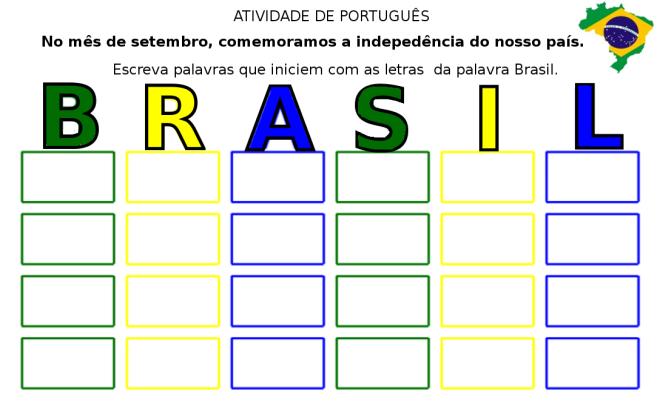Brasil,escrita,leitura, pátria,Português,TuxPaint