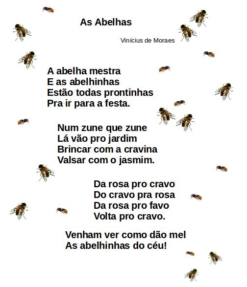 abelhas, leitura, poesia, TuxPaint