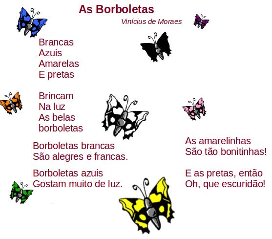 borboletas, leitura, poesia, Vinicius de Moraes,TuxPaint