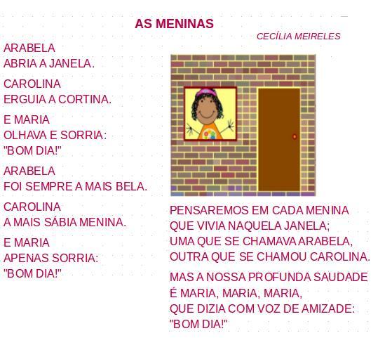 as meninas, leitura, poesia, Cecília Meireles,TuxPaint