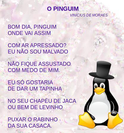 o pinguim, leitura, poesia, Vinicius de Moraes,TuxPaint