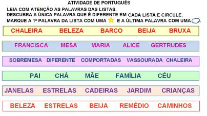 descubra o diferente, escrita,se as coisas fossem mães,português